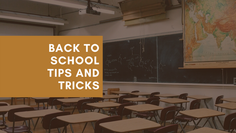 Back To School (featured is a background of a classroom with desks and a chalkboard, along with a map)
