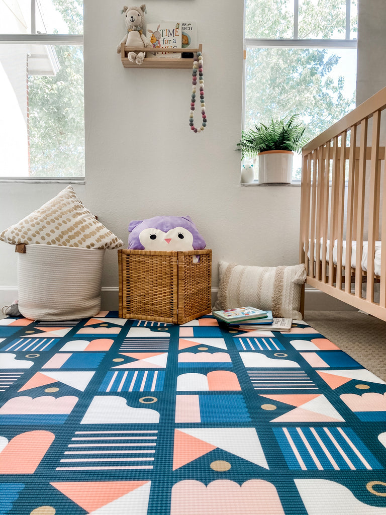 Little Bot Baby Play Mat (Ofie mat, candy bar + country road)