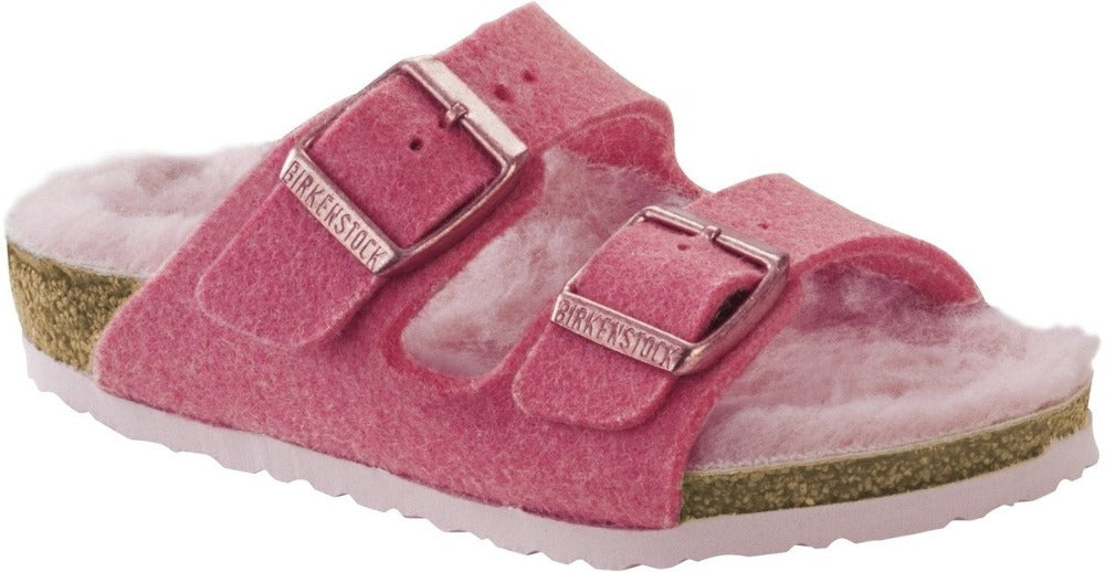 Arizona - Pink Wool Shearling Kids