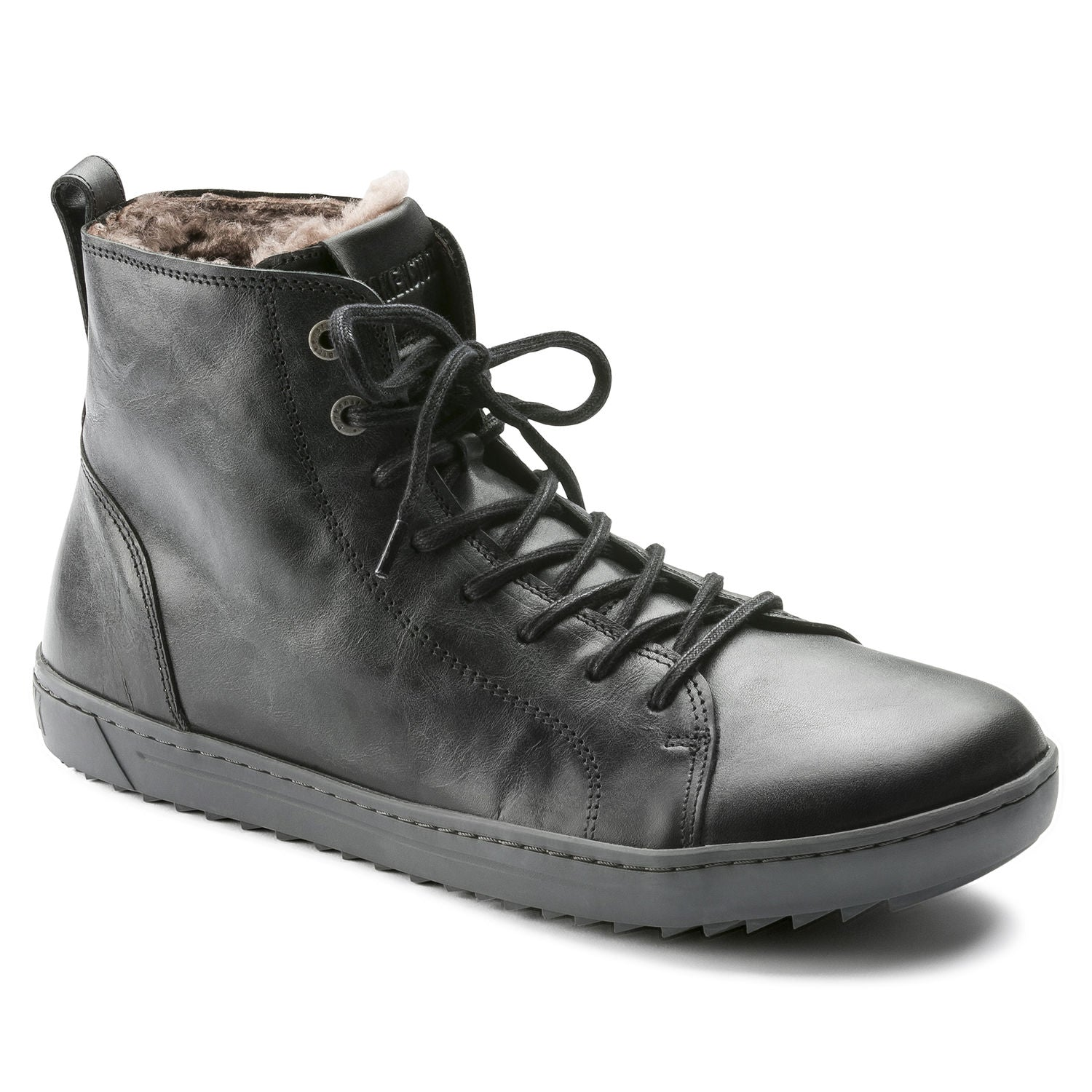 Bartlett Men - Aviator Black Leather Shearling