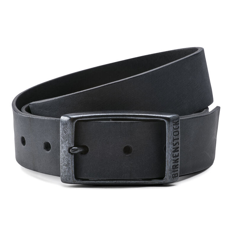 Kansas Belt - Black Oiled Leather