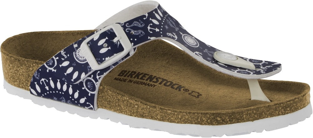 Gizeh - Nautical Print Blue Birko-Flor Kids