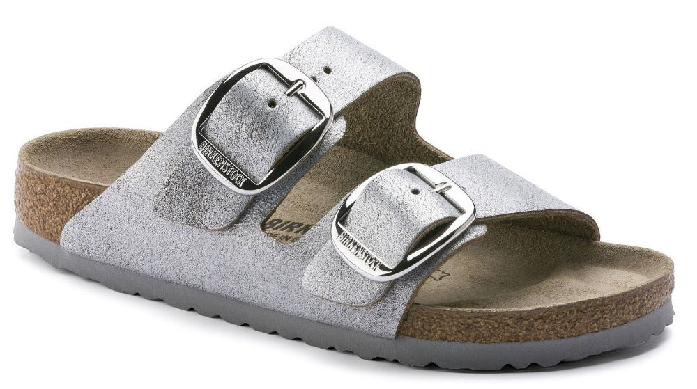 69deb8cbe576 Birkenstock Sandal · Arizona Big Buckle - Washed Metallic Blue Silver  Leather