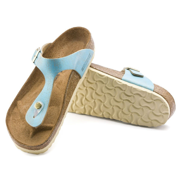 Gizeh Washed Metallic Aqua Leather My Birkenstock Shop