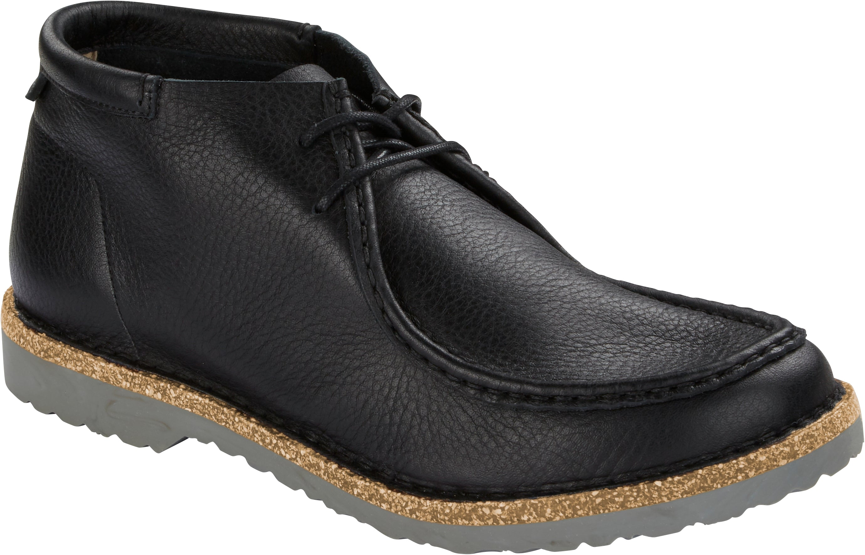 Delano High Men - Black Natural Leather