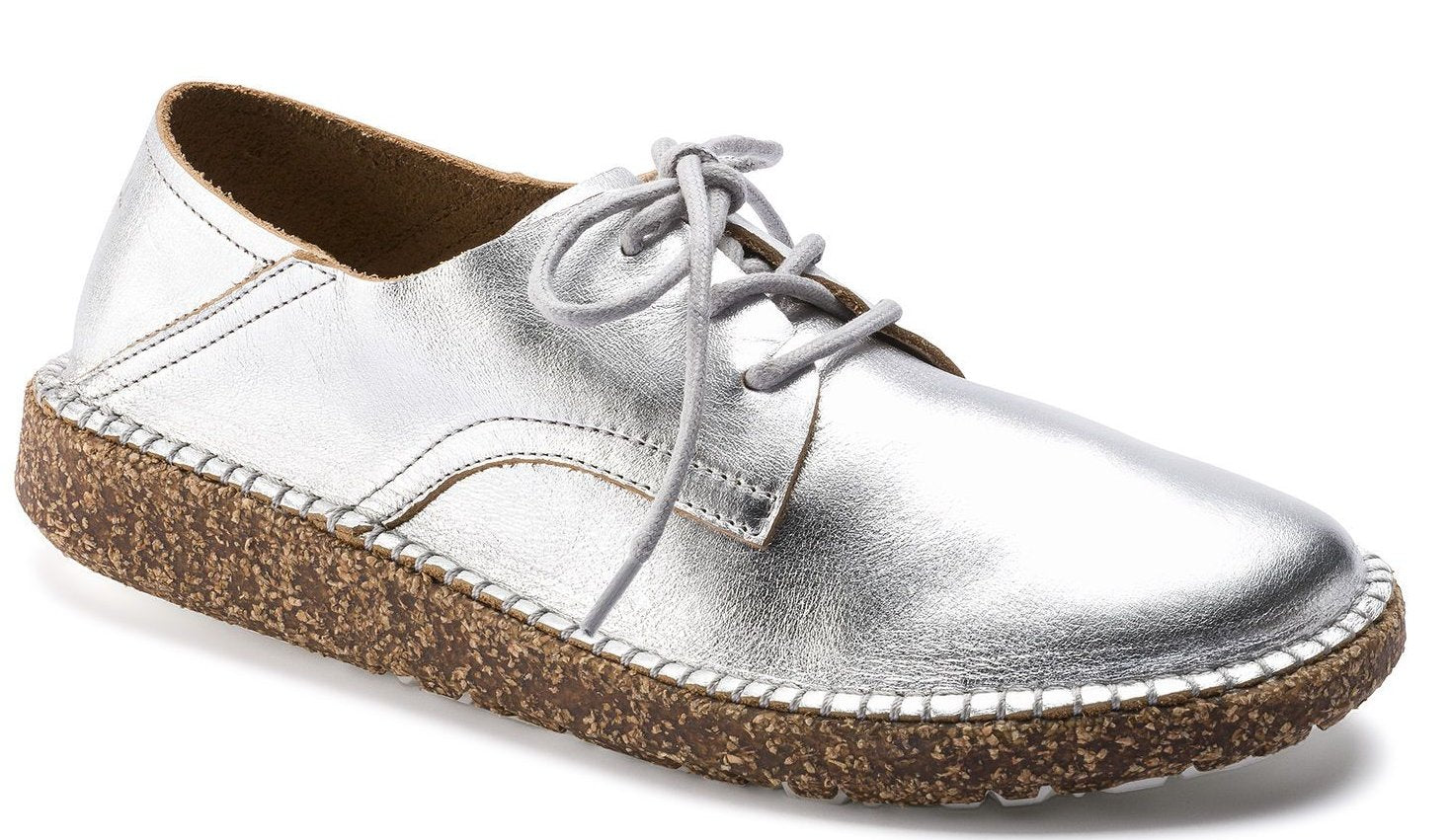 Gary - Metallic Silver Leather