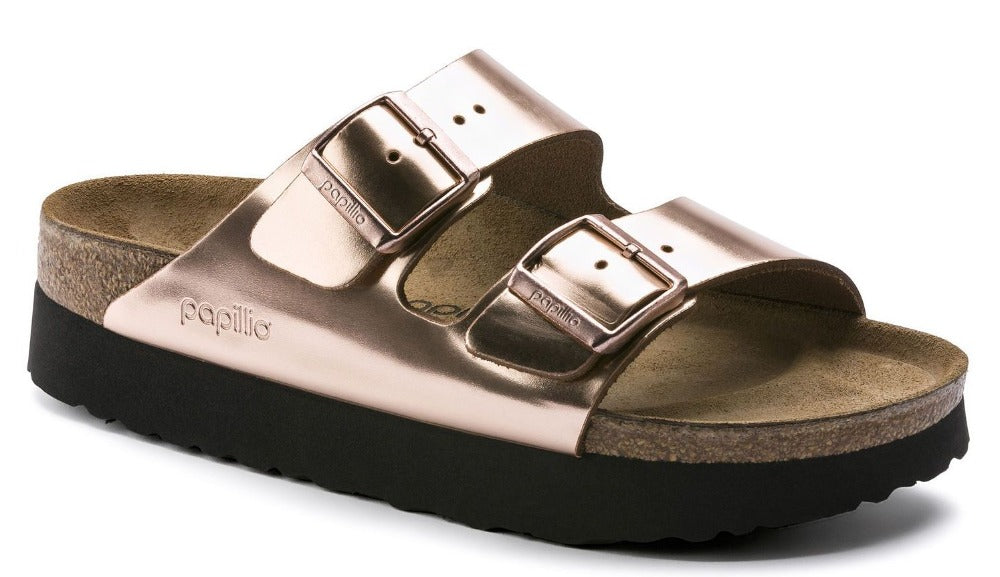 Arizona Platform - Metallic Copper Leather