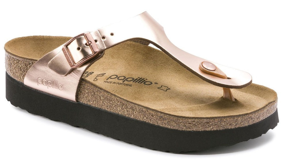 Gizeh Platform - Metallic Copper Leather