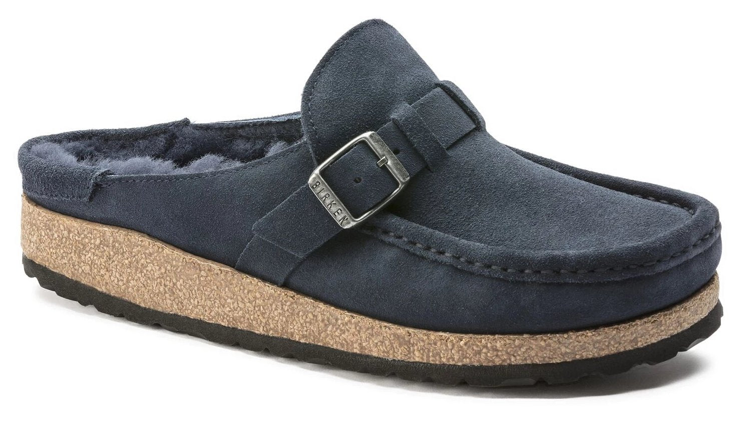 Buckley - Navy Suede Shearling