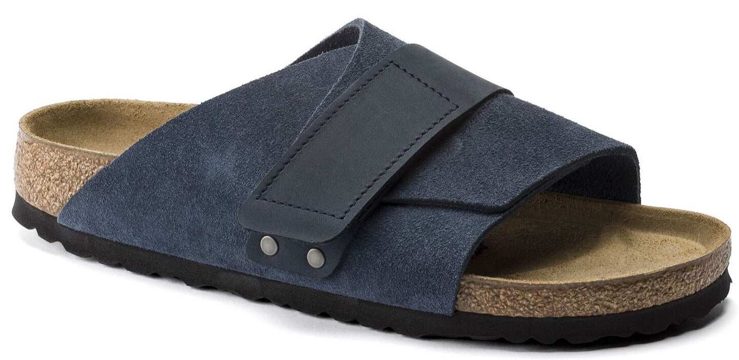 Kyoto Men - Navy Nubuck and Suede Leather