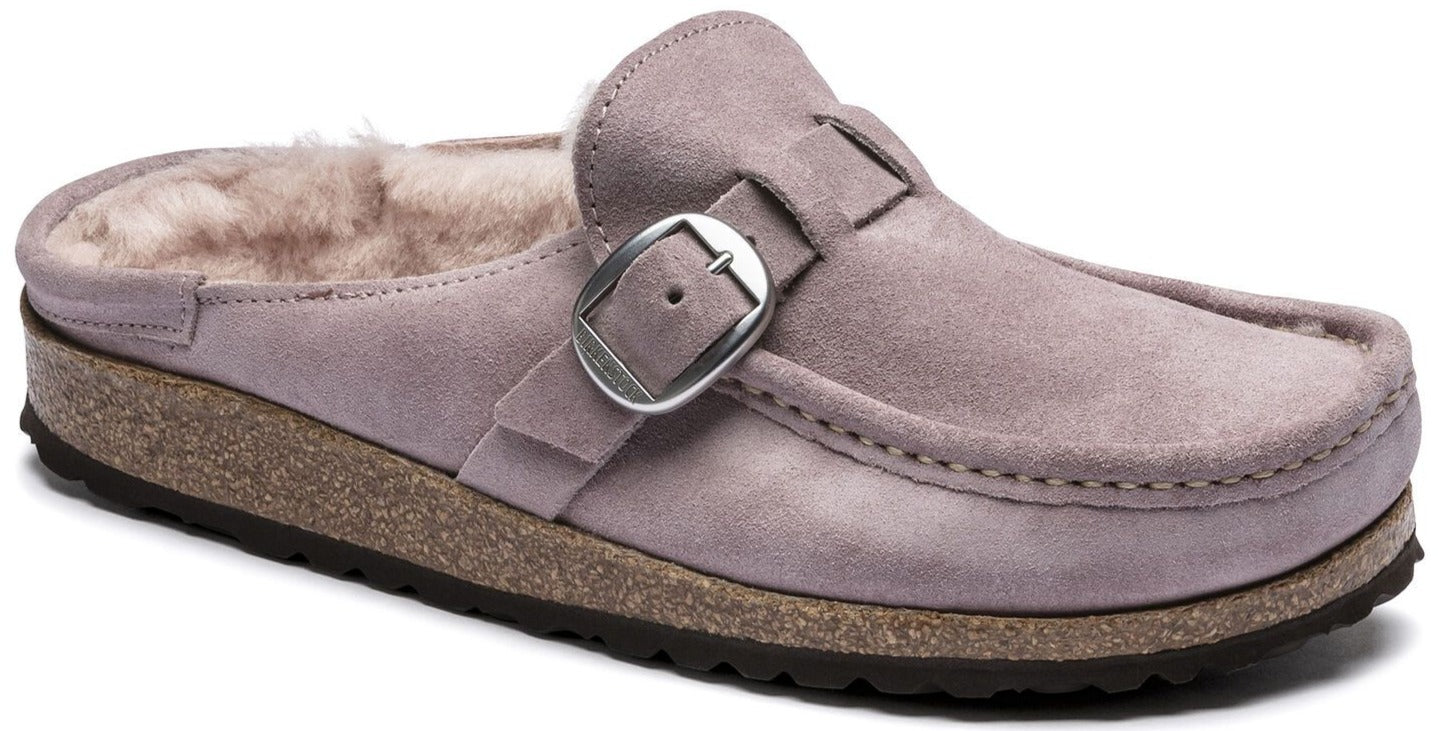 Buckley - Lavender Blush Suede Shearling