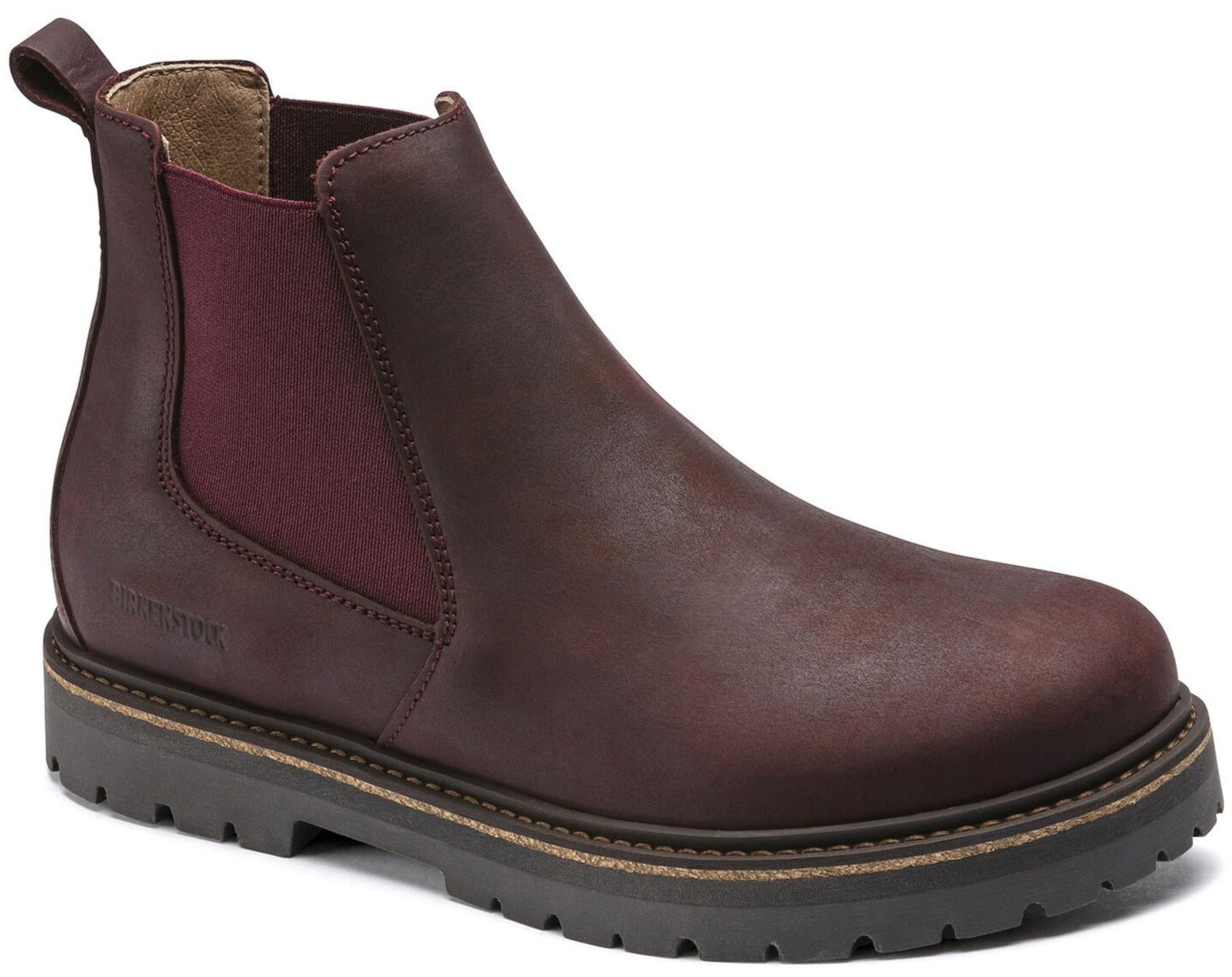 Stalon Women - Burgundy Nubuck Leather