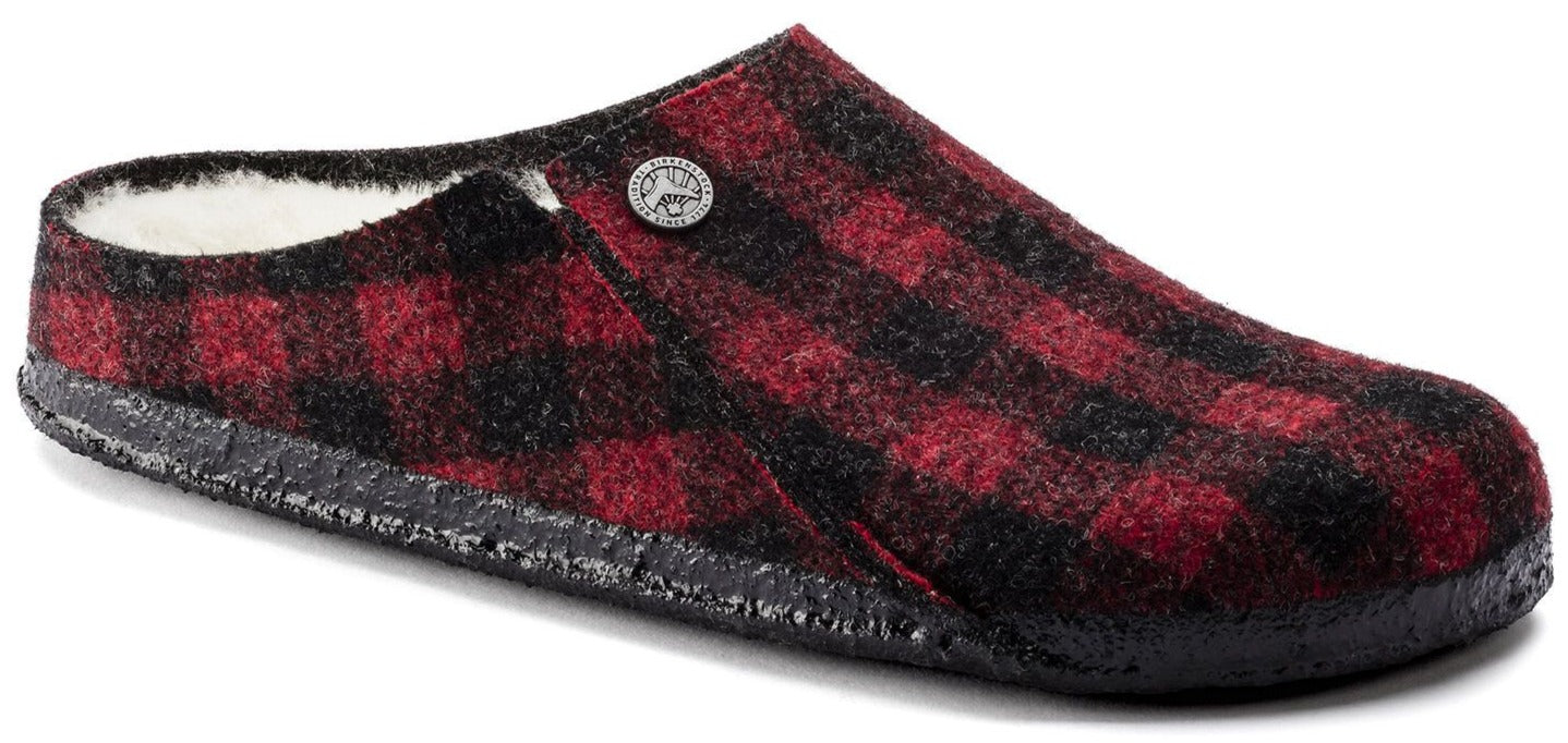 Zermatt Women - Plaid Red Wool Felt Shearling