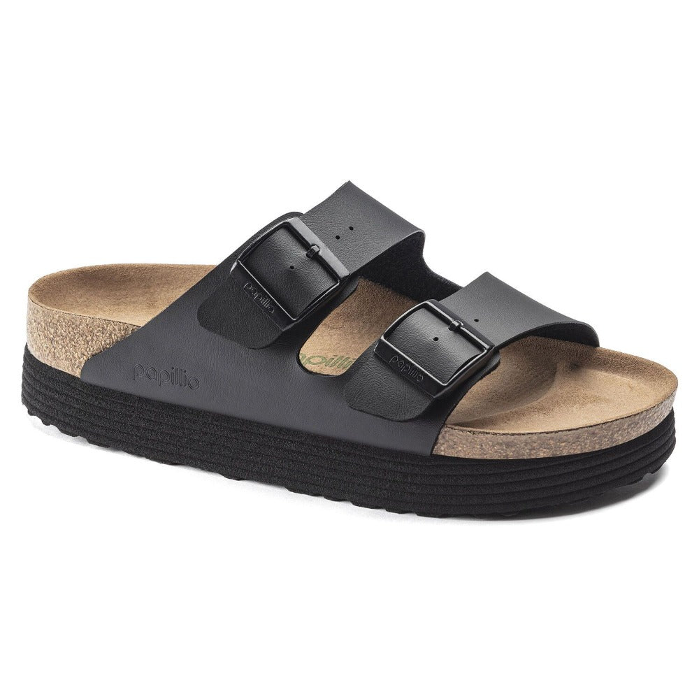 Arizona Platform Vegan - Black Birko-Flor