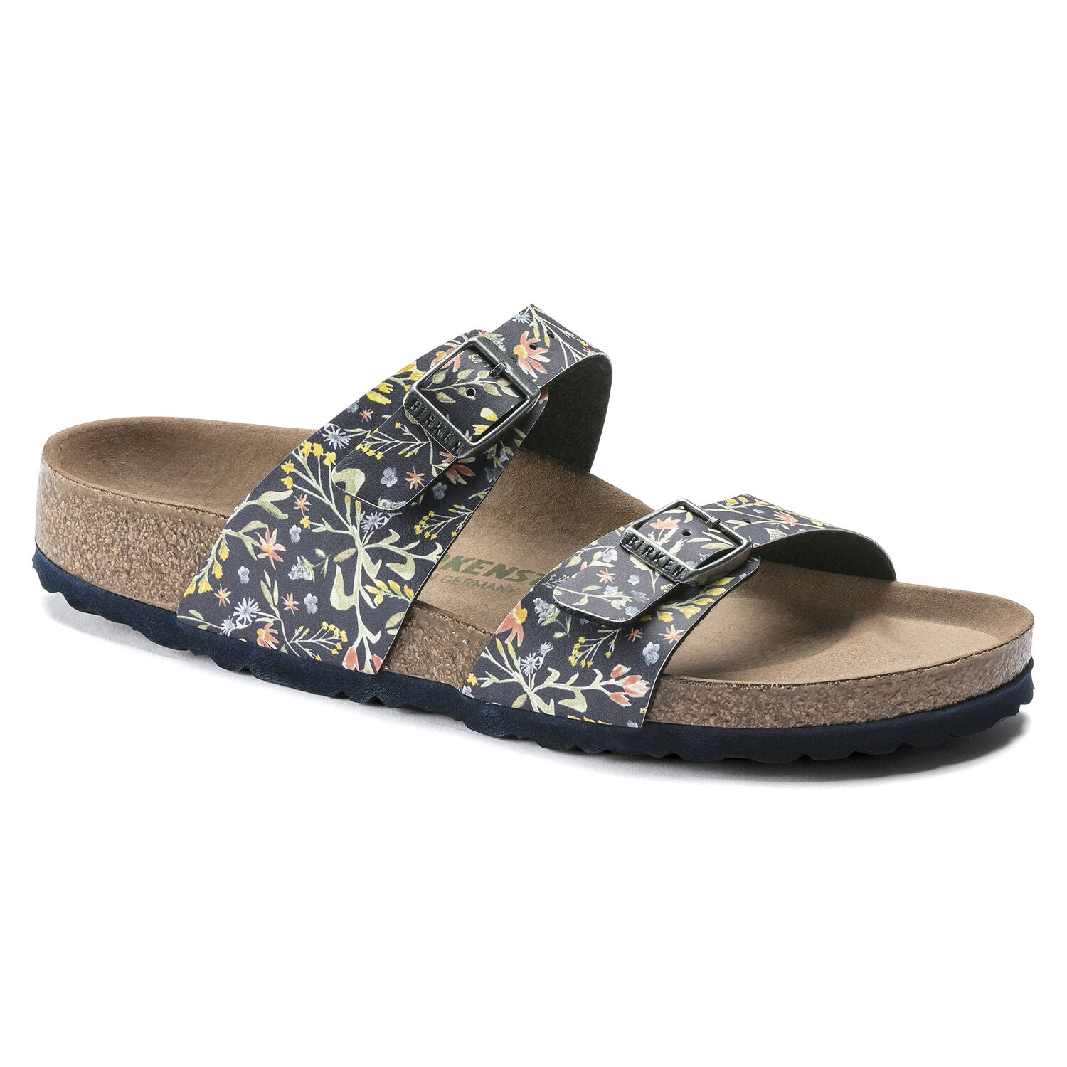 Sydney Vegan - Watercolor Flower Navy Birko-Flor