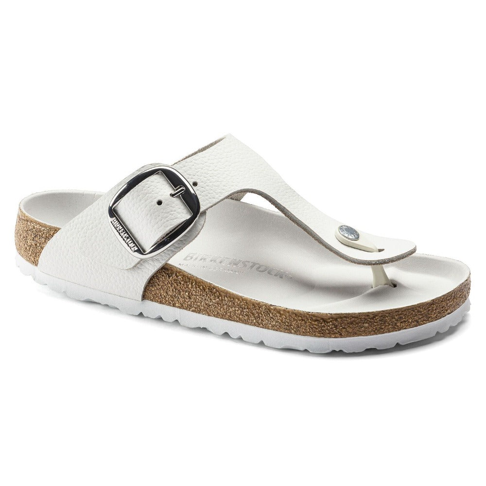 Gizeh Big Buckle - White Oiled Leather