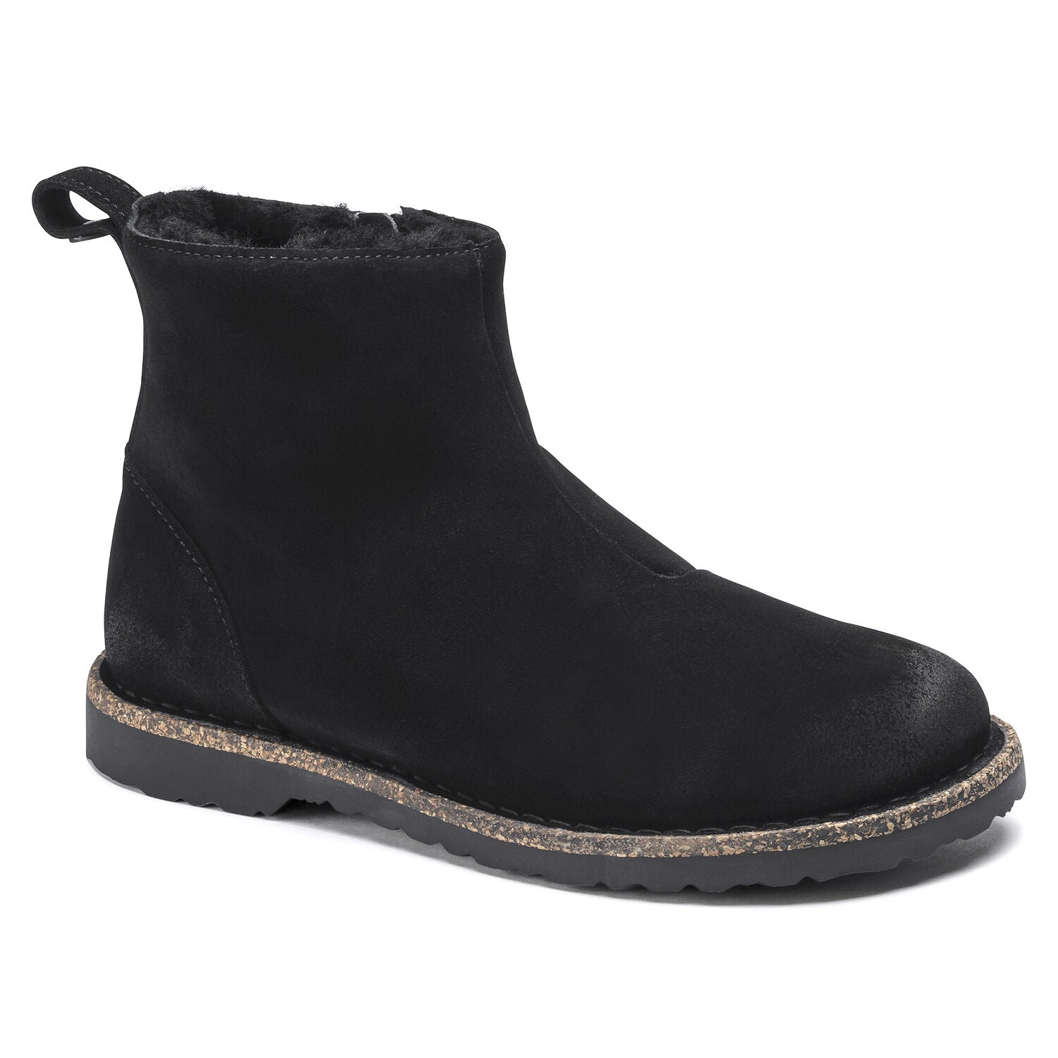 Melrose -  Black Shearling Suede
