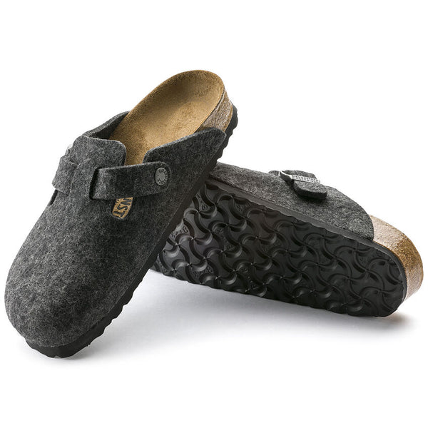 Boston Anthracite Wool Felt My Birkenstock Shop
