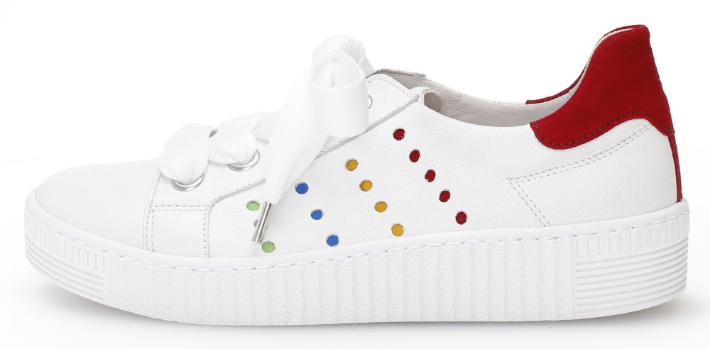 43332.20 - White Leather and Multicolor Suede