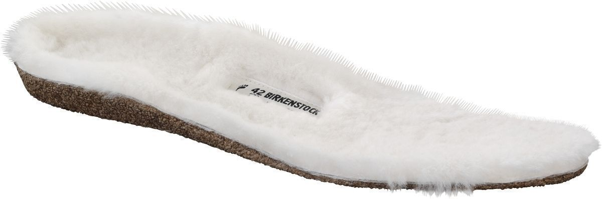 Shearling Footbed - Beige Wool Women