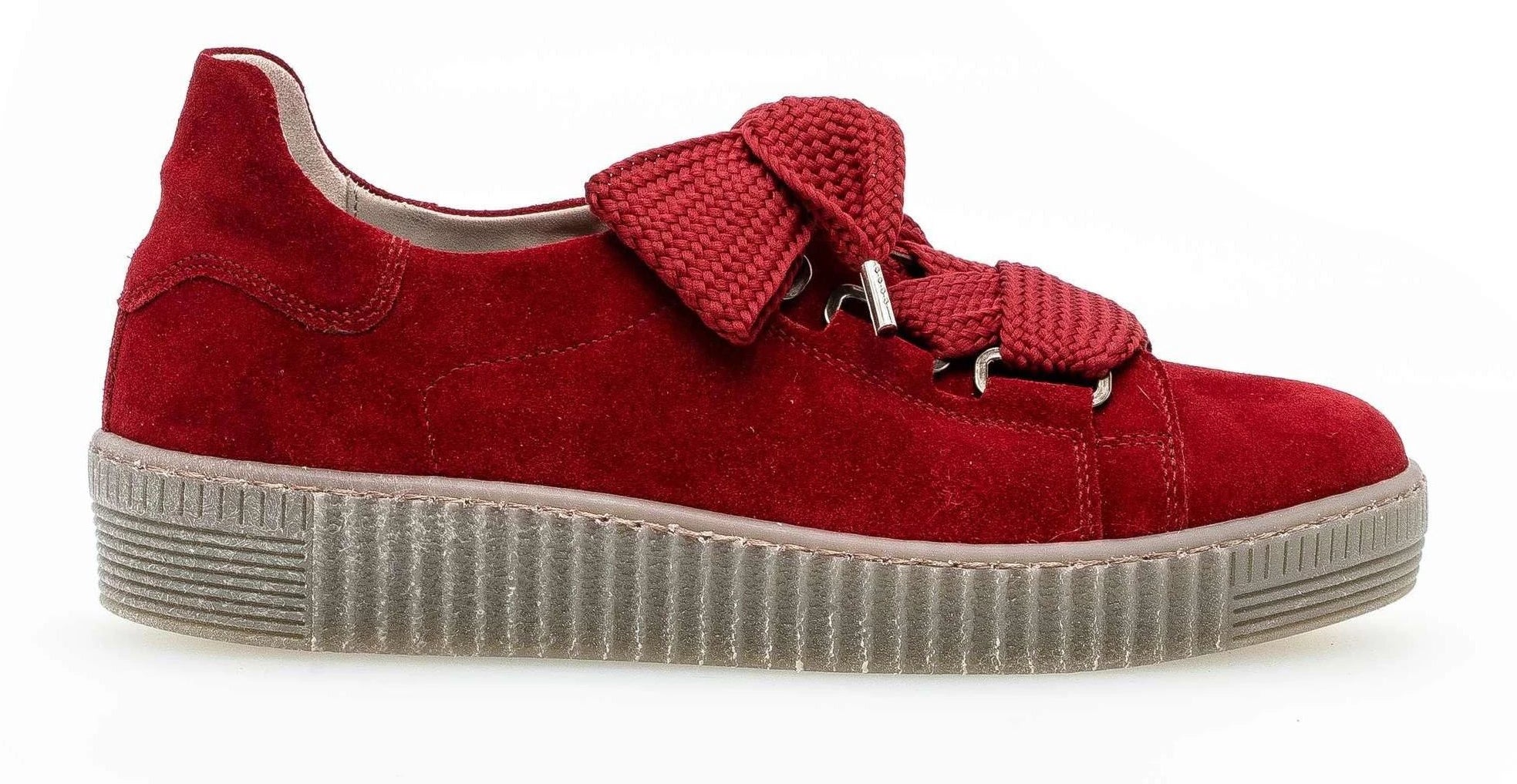 33.330-15 - Sneaker Low Lace Suede Red