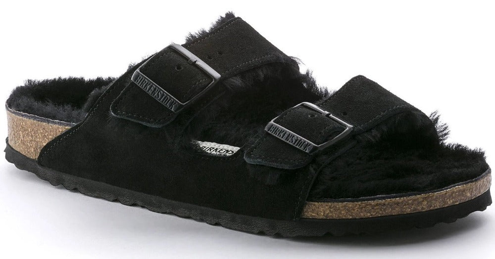 Arizona - Black Shearling Suede