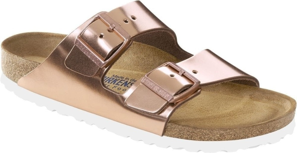 Arizona Soft - Metallic Copper Leather White Sole