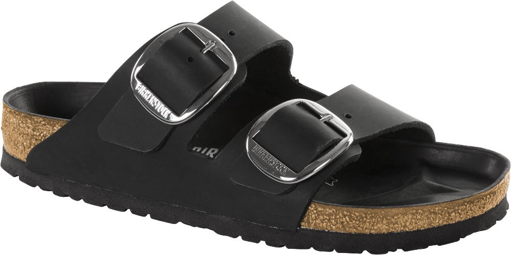 6fe925cf7d06 Arizona Big Buckle - Black Oiled Leather – My Birkenstock Shop