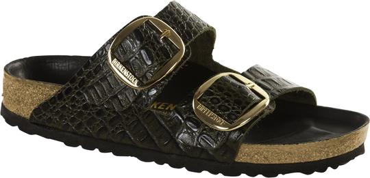 Arizona Big Buckle - Gator Olive Leather
