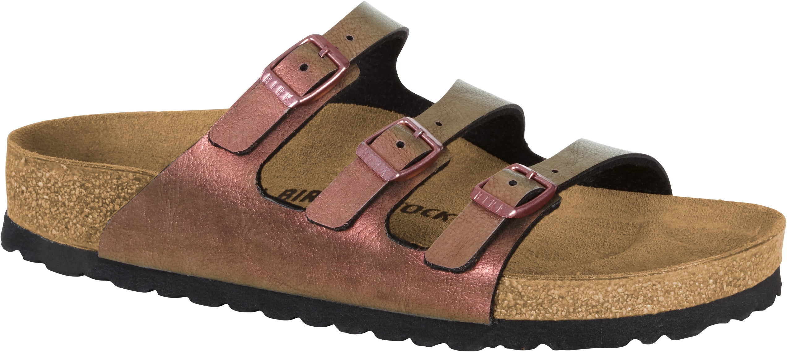 ff48de19cc78 Florida - Gem Red Graceful Birko-Flor. Style Nr   1010954. Classic  Birkenstock comfort with 3 adjustable narrow straps.