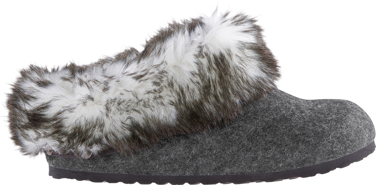 Kaprun - Anthracite Wool & Faux Fur
