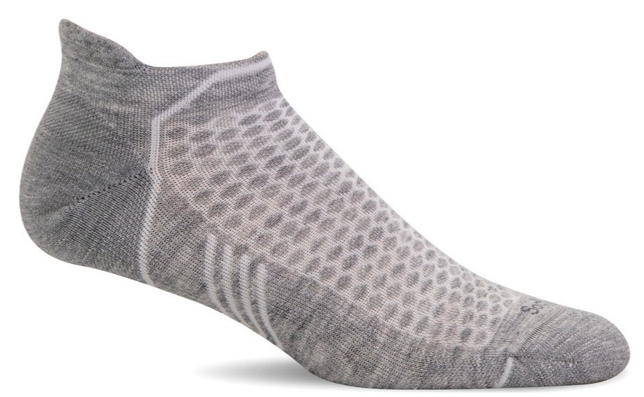 Incline Micro - Light Grey Solid Moderate Compression
