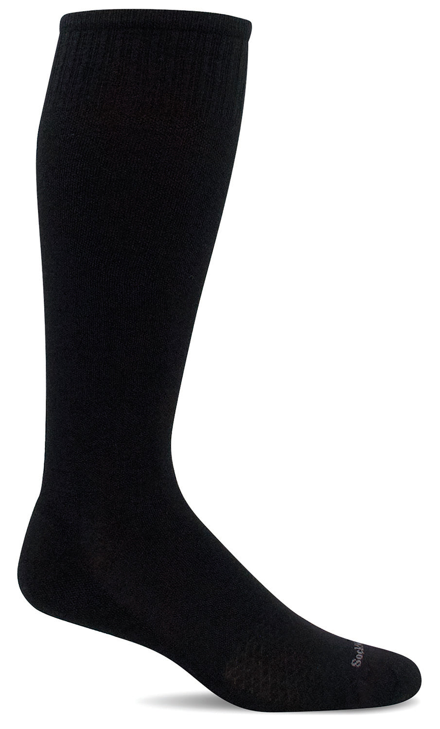 Featherweight Knee-High - Black Moderate Compression (15-20mmHg)