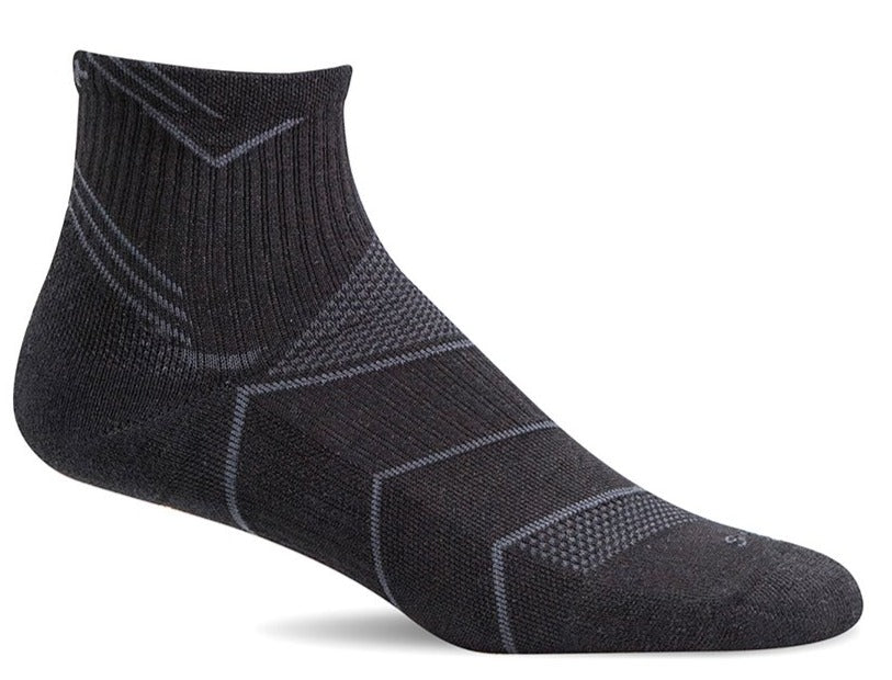 Incline Quarter - Black Solid Moderate Compression