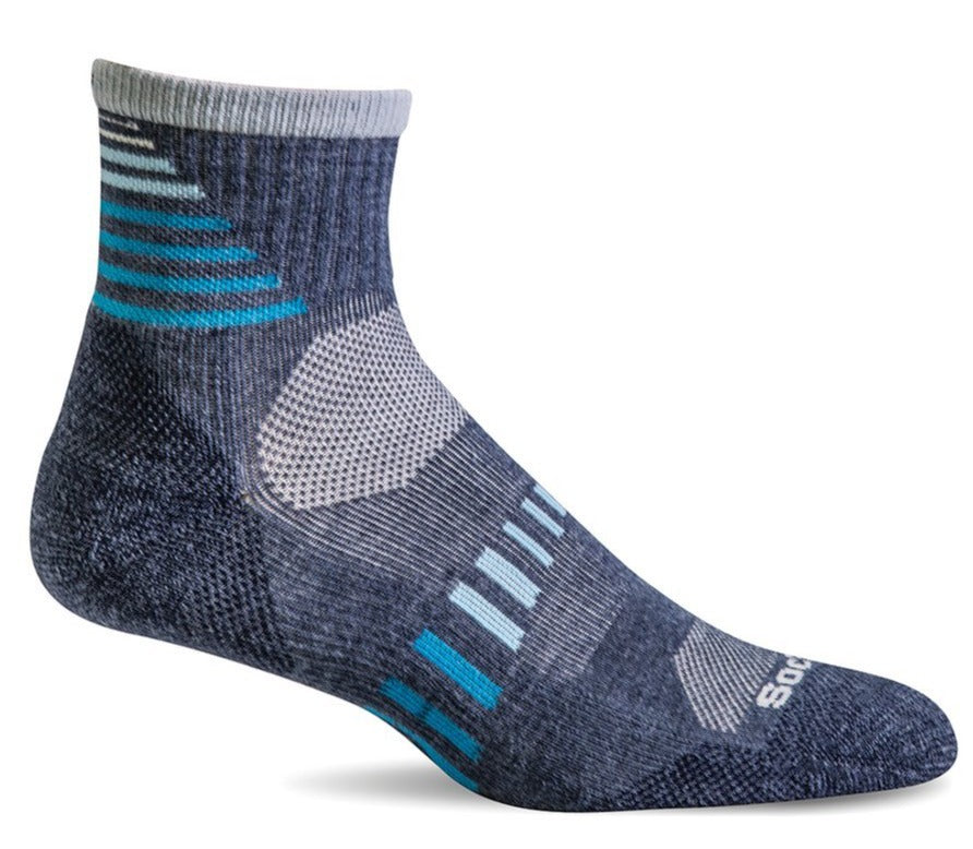 Ascend II Quarter - Denim Moderate Compression