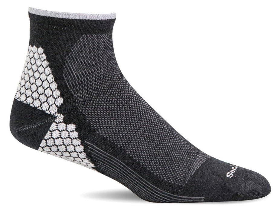 Plantar Sport Quarter Women - Black Plantar Relief