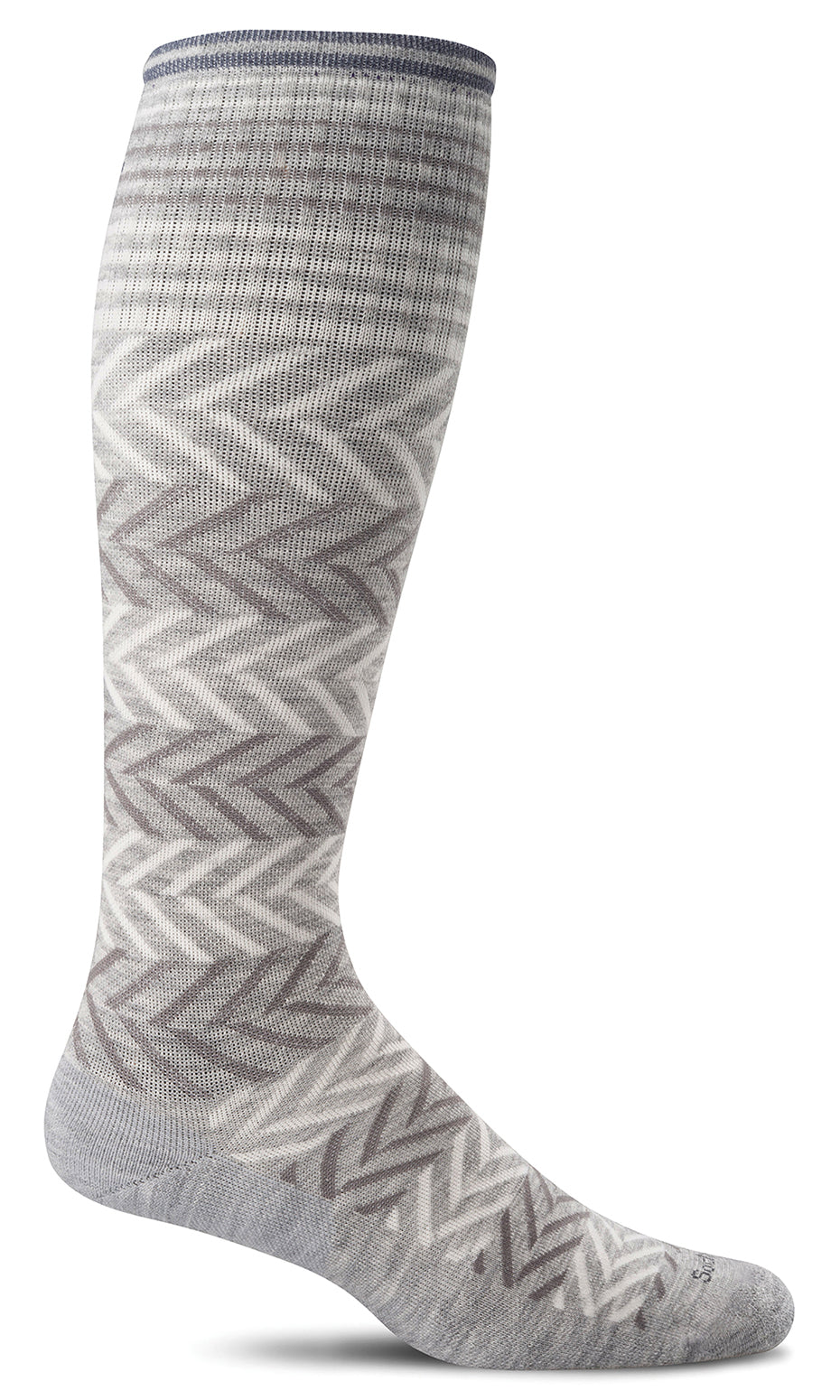 Chevron Knee-High - Grey Moderate Compression
