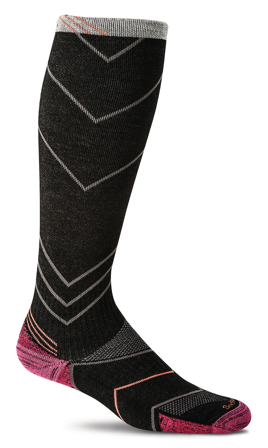 Incline Knee-High - Black Moderate Compression (15-20mmHg)