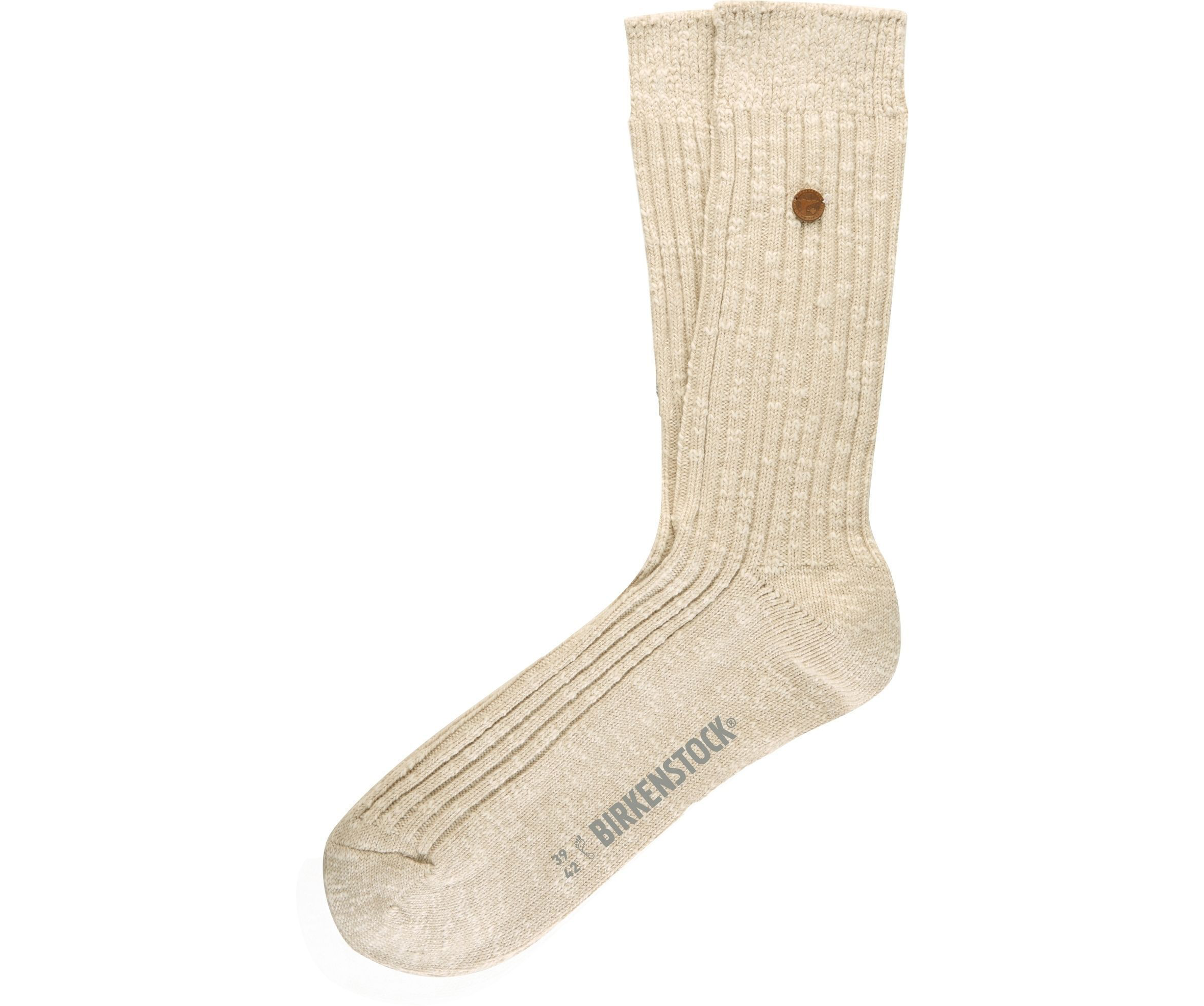 London Sock - Beige Cotton Lycra