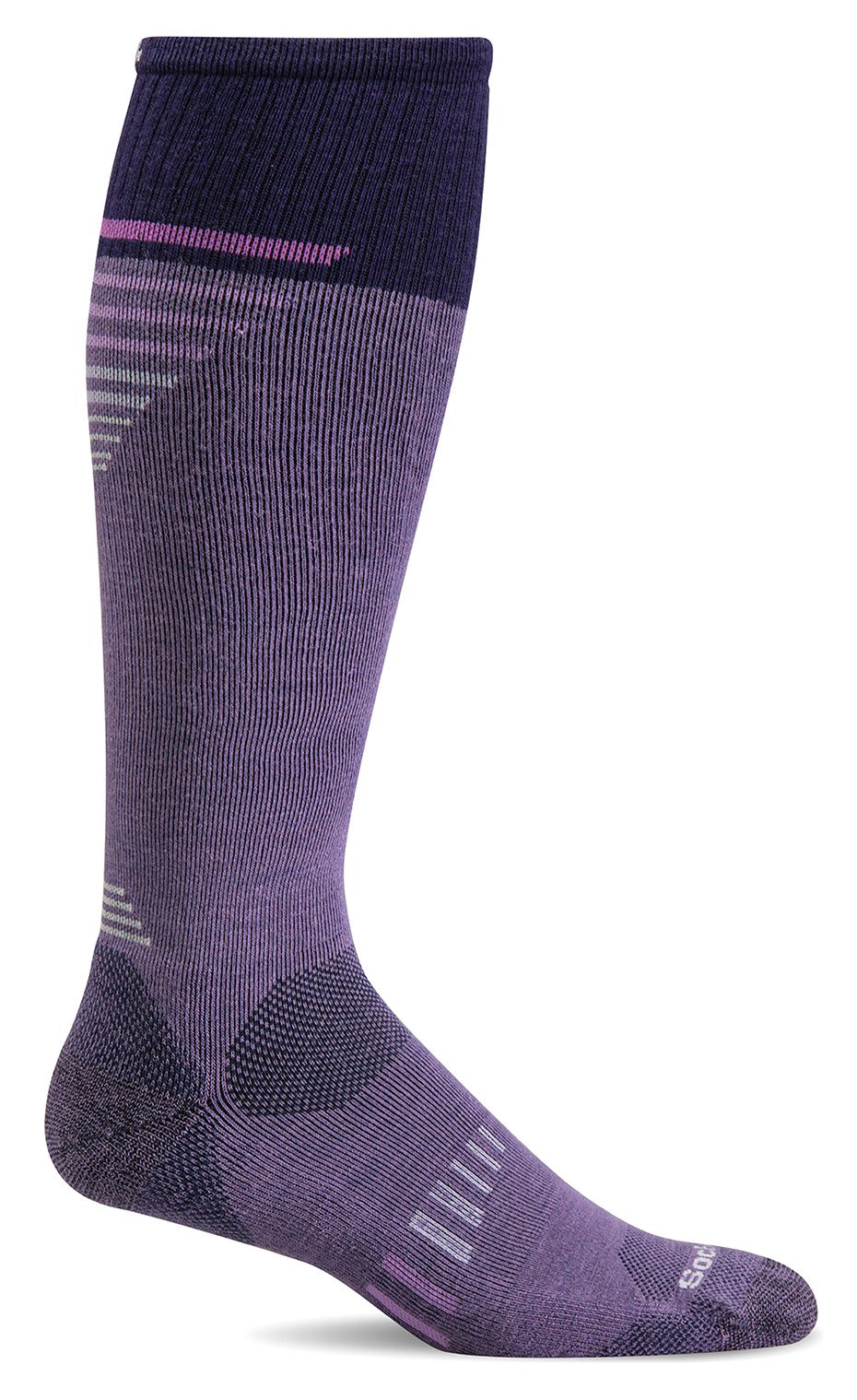 Ascend II Knee-High - Plum Moderate Compression (15-20mmHg)