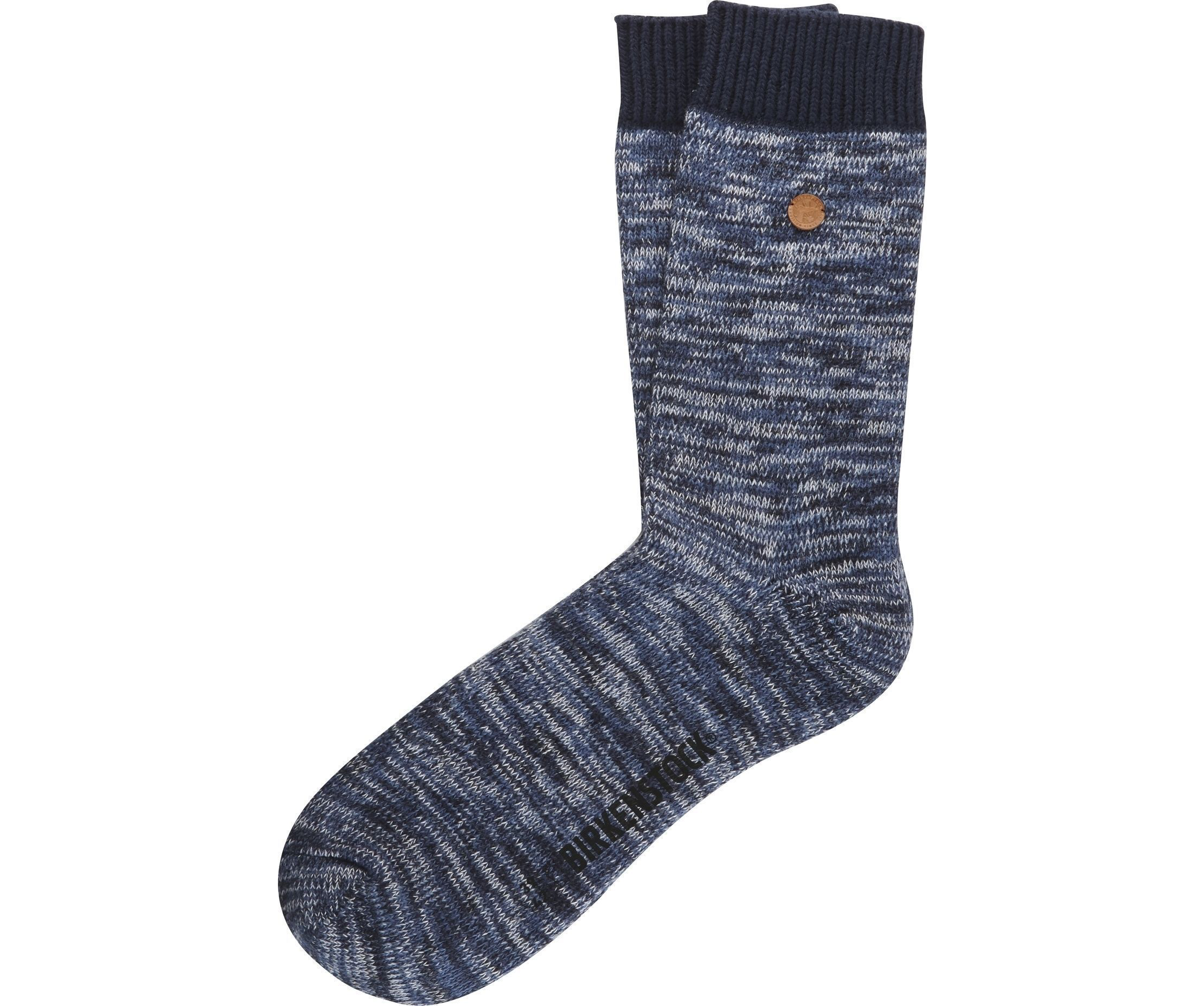 Roma Sock - Blue Cotton Lycra