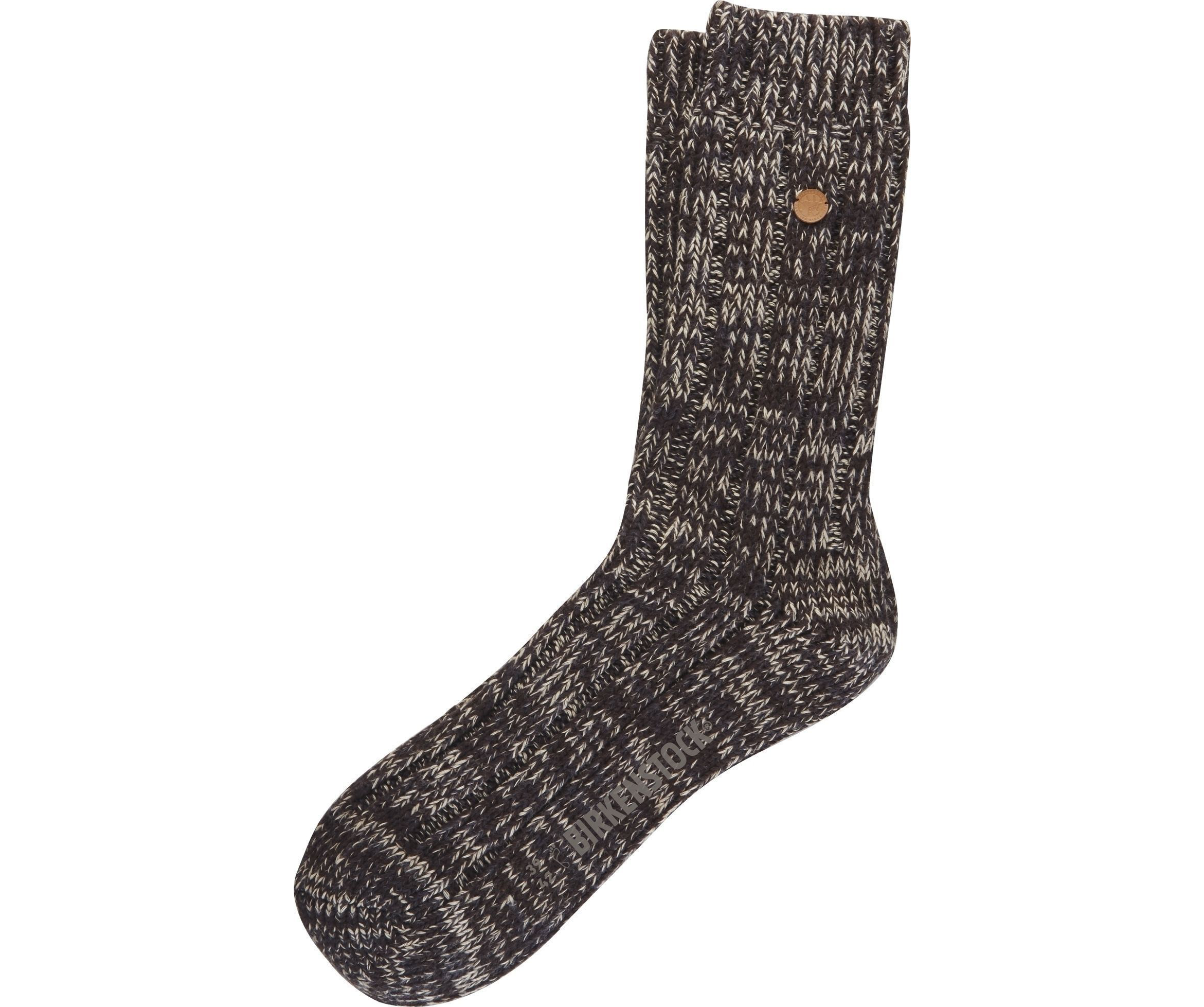 Sydney Sock - Brown Cotton Lycra
