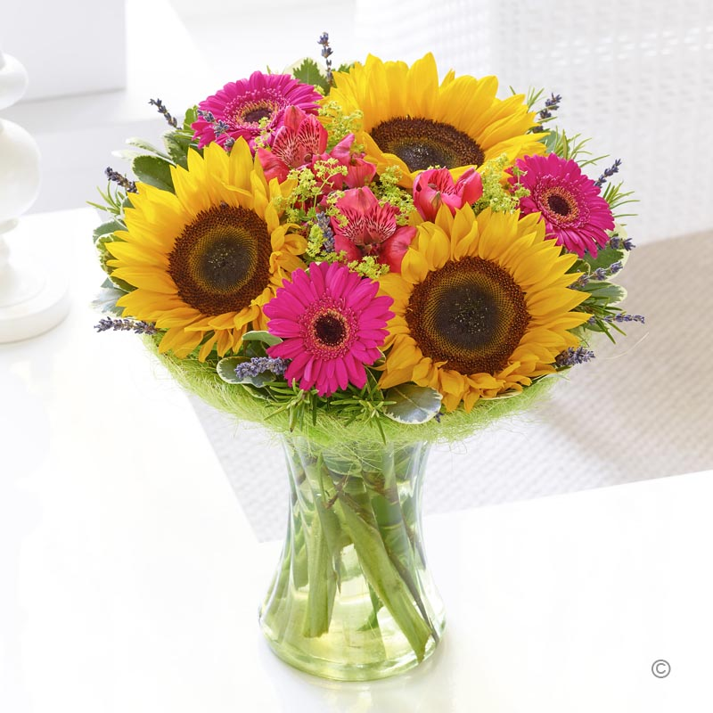 Scented Sunflower Vase