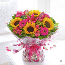 Load image into Gallery viewer, Sunflower Celebration Hand Tied