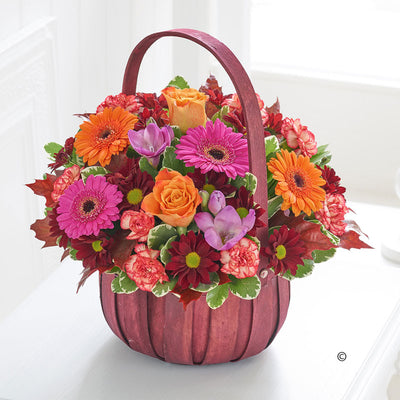 Autumn Basket Arrangement - Abi's Arrangements Ltd