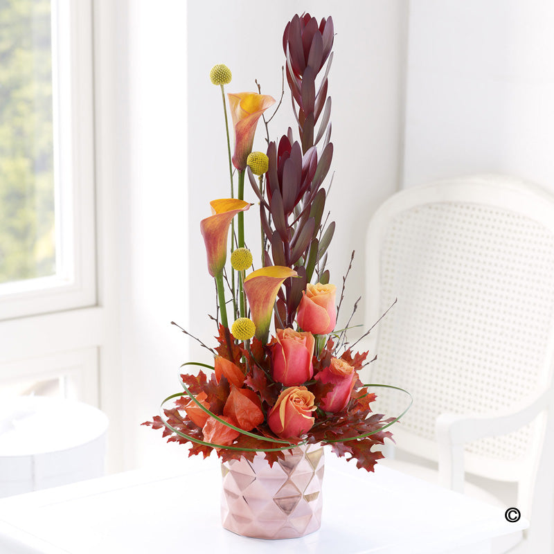 Autumnal Container Arrangement