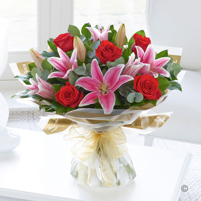Lily and Rose Hand Tied - Abi's Arrangements Ltd