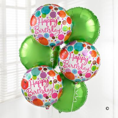 Happy Birthday Helium Balloon Bouquet
