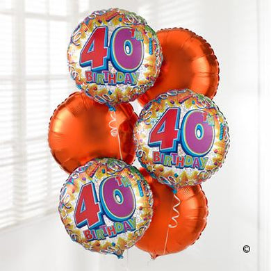 40th Helium Balloon Bouquet