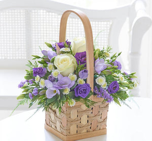 Scented Lilac & White Basket